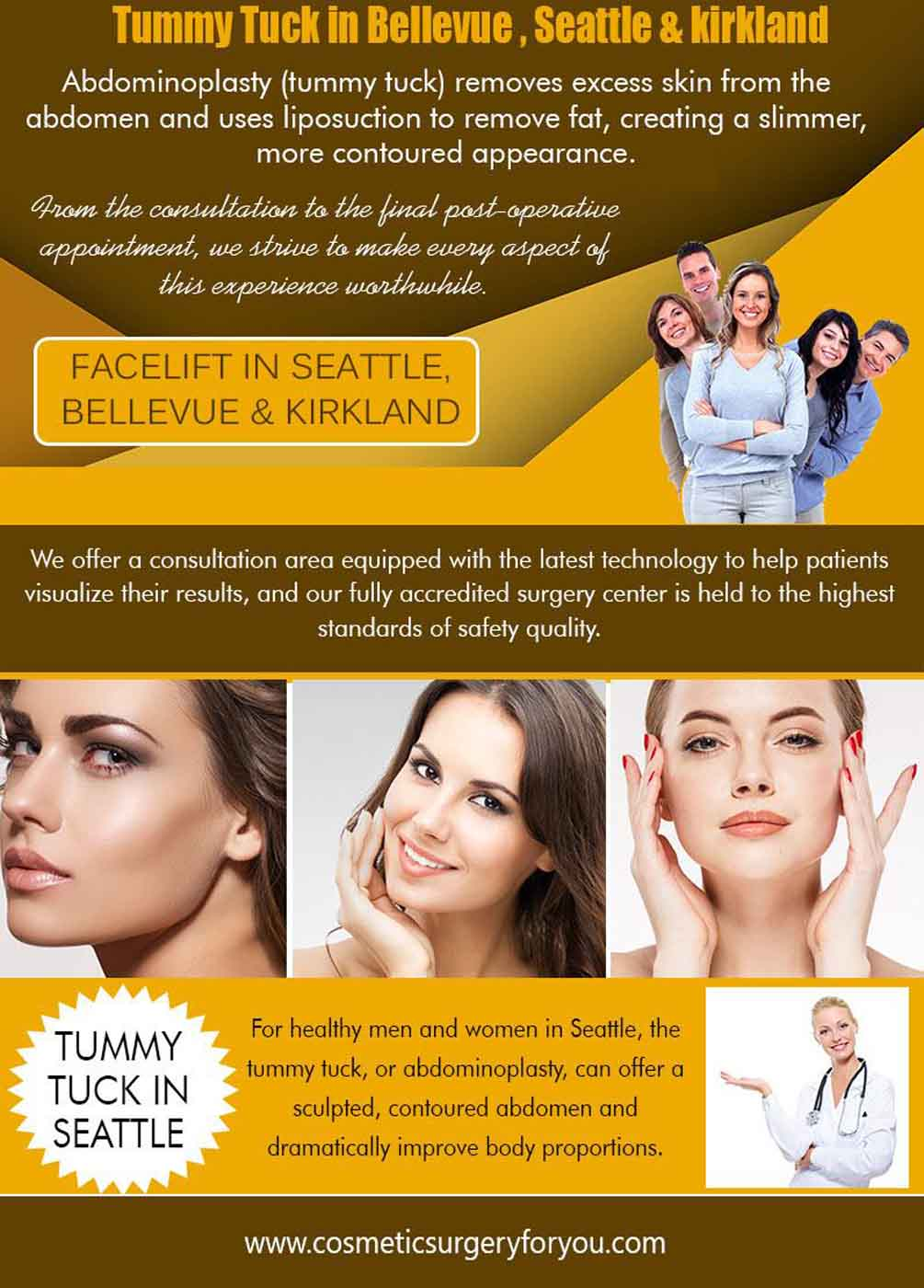 Tummy Tuck In Bellevue, Kirkland, Seattle