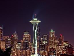 Picture of the space needle in Seattle